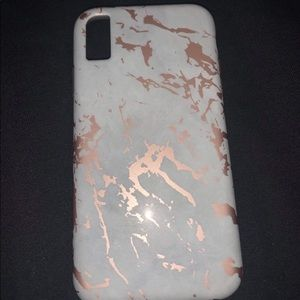 4 for $20//iPhone XR Case Rose Gold Marble